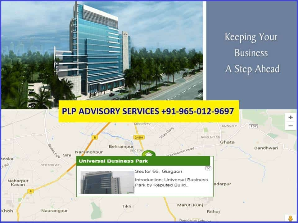 Office for rent in Universal Business Park Gurgaon
