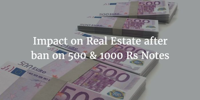 Impact of Demonetization on Real Estate
