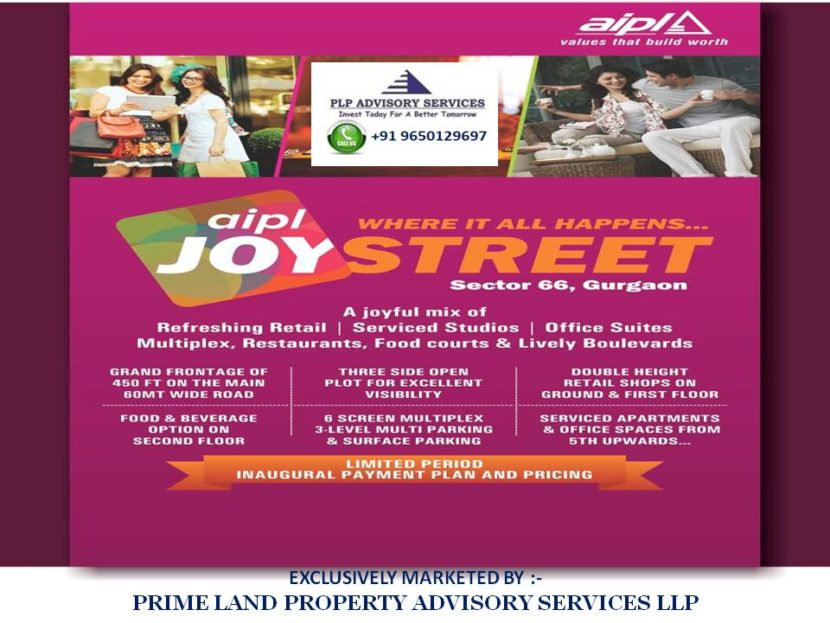 AIPL Joy Street Sector 66 Gurgaon