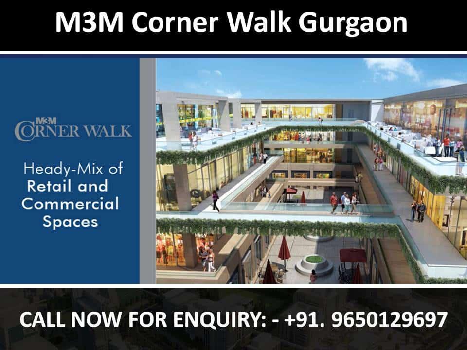 M3m Corner Walk Gurgaon 9650129697 24 Retun 9 Year Lease